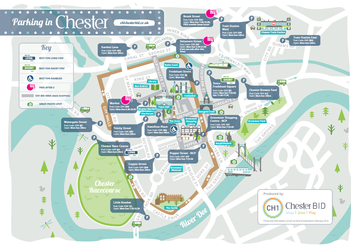 Car Parks & Parking Facilities in Chester and Cheshire
