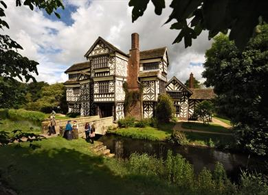 Little Moreton Hall, A charming Tudor House. c. National Trust.