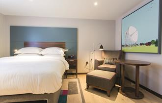 Guest bedrooms furnished to a high standard at Cottons Hotel & Spa