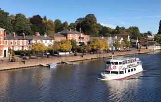 The Lady Diana returning to The Groves, Chester