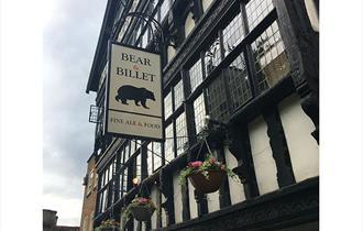The stunning black and white exterior of the Bear & Billet