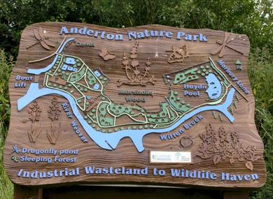 Anderton Nature Park is part of the Northwich Community Woodlands