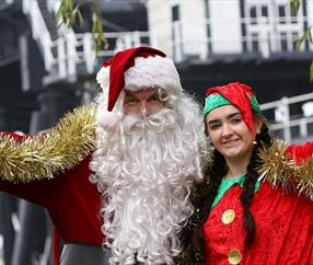 Santa Cruises at Anderton Boat Lift |