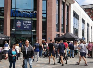 Warrington Market, winners of the 'Best Small Indoor Market' award, 2019