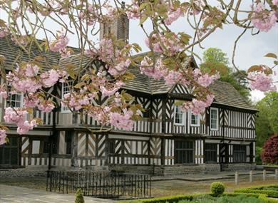 The timbered hall at Adlington Hall & Garden