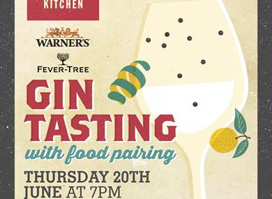 Warner's  and Fevertree Gin and Food Pairing