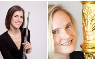 Katherine Baker, flute, and Lucy Wakeford, harp, with Northern Chamber Orchestra