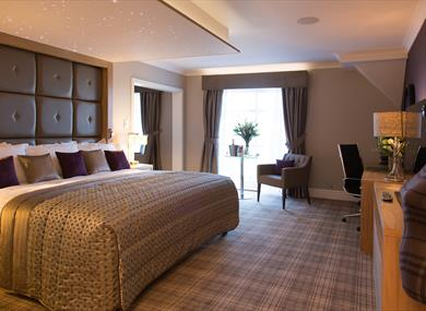 A luxury suite at the Carden Park Hotel