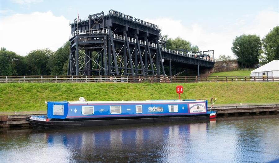 Stunning views of Anderton Boat Lift and the canal side