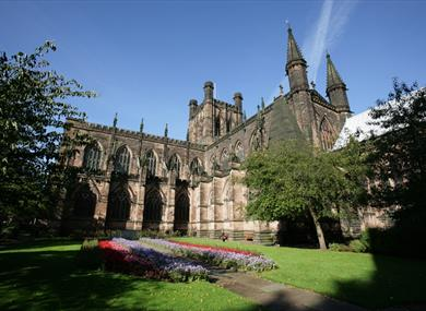 Stunning exterior of Chester Cathedral