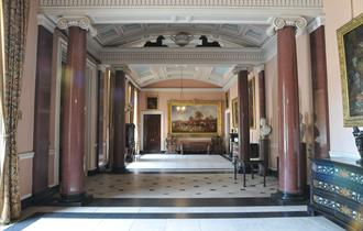 Inside the entrance hall of Tatton Park Mansion
