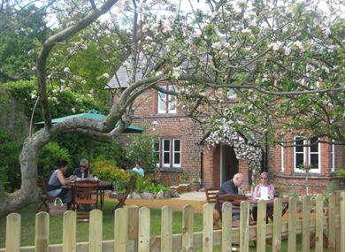 Outdoor dining experience at Tatton's famous Gardener's Cottage