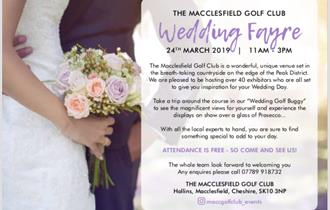 Macclesfield Golf Club Wedding Fayre