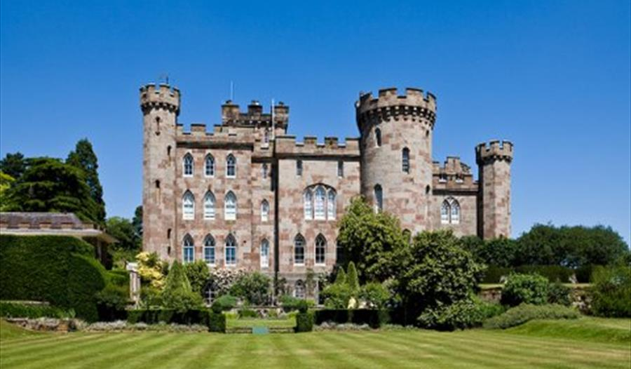 Beautiful romantic gothic style castle at Cholmondeley Castle Gardens