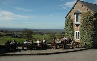 The Pheasant Inn exterior sits a top the Peckforon Hills in rural and beautiful Cheshire