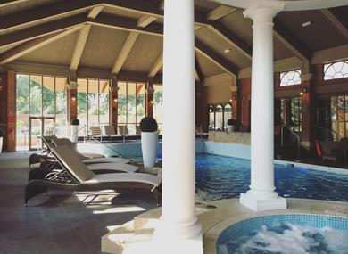 The pool at The Mottram Club & Spa
