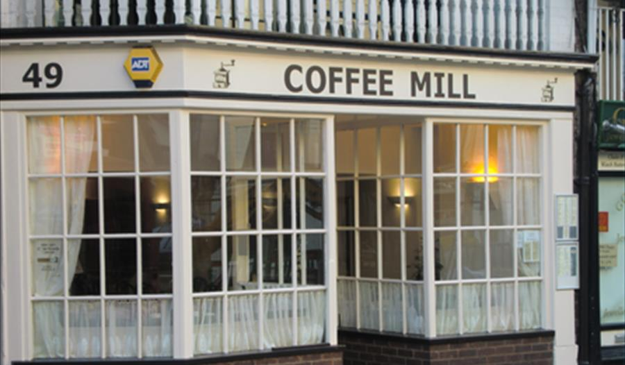 Coffee Mill Chester - Exterior is an old English tearoom with a friendly atmosphere and a selection of hot & cool food.
