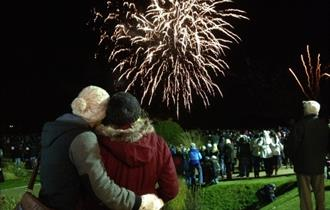 Bonfire and Fireworks Display at Trentham