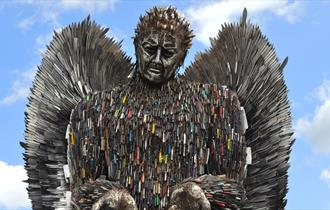 The Knife Angel at Chester Cathedral