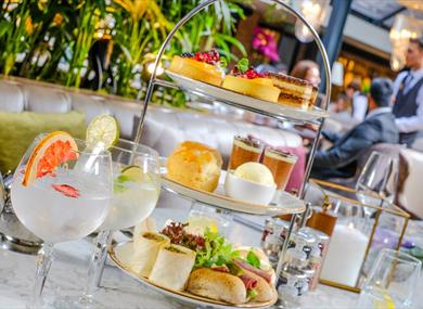 Afternoon tea with Tasty and delicious cakes at Pal Court Restaurant Bar & Piano Lounge