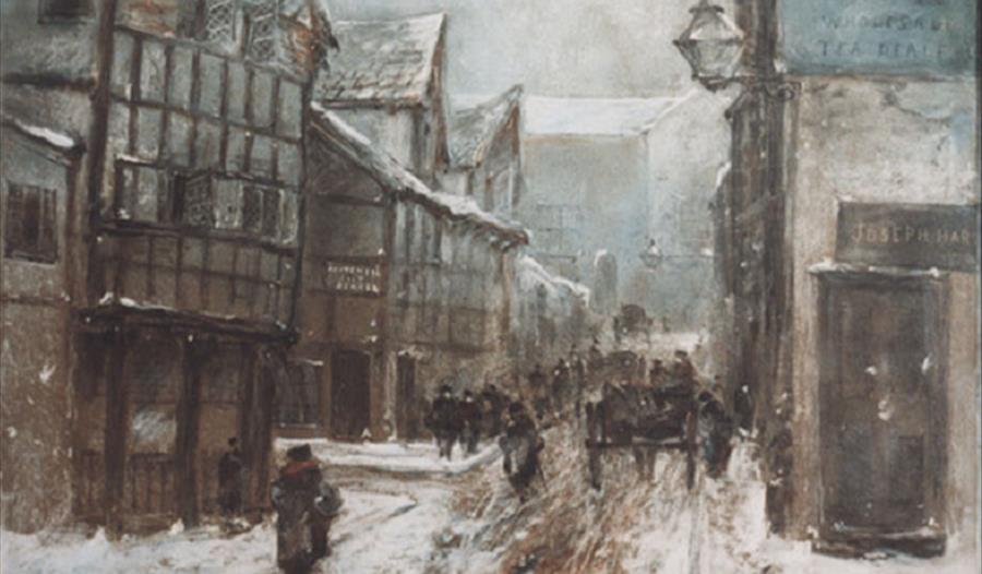 Old Cheapside, Warrington, 1864 by George Sheffield