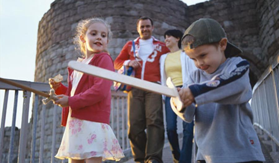 Family fun at Beeston Castle