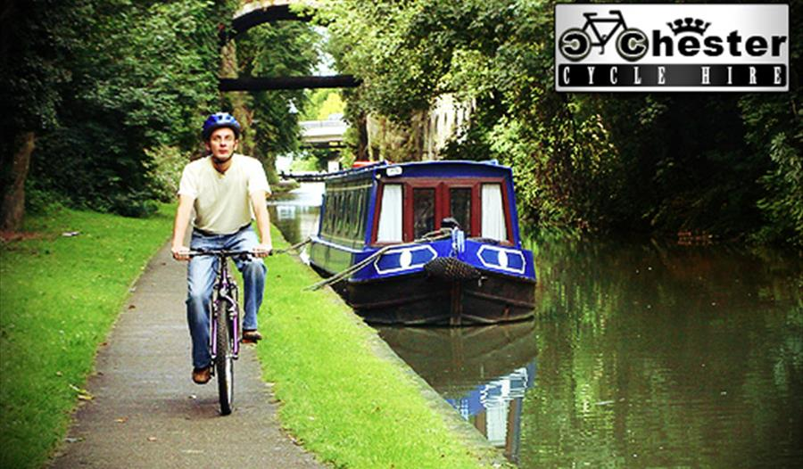 Great feeling: riding along the canalside