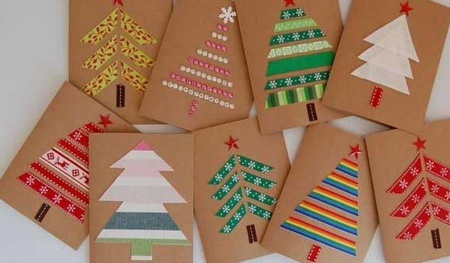 christmas card making workshops  visit cheshire
