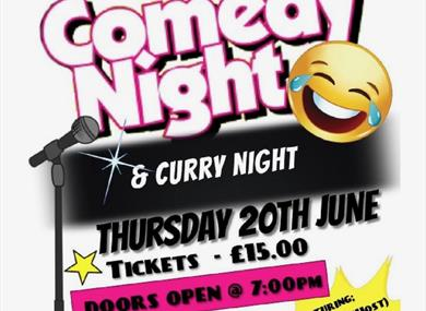 Comedy and curry night