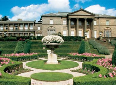 Tatton Park Mansion and the beautifully manicured gardens