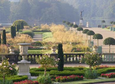 Italian Garden at Trentham Gardens in Summer